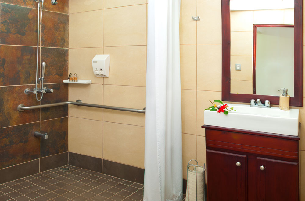 You don't need to worry about wheel chair access in our accessible studio apartment.